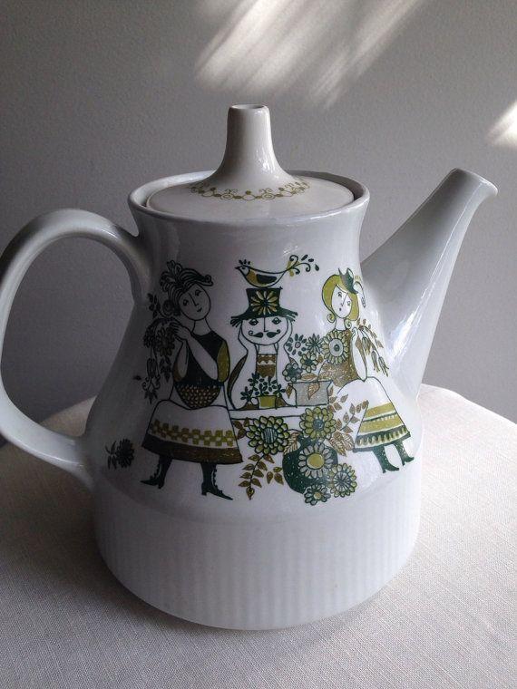 Vintage Figgjo Norway Market Teapot 2127 by TPURvintage on Etsy