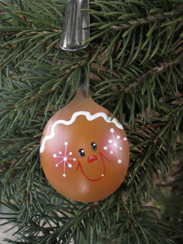 Gingerbread Boy Hand Painted Spoon Ornament
