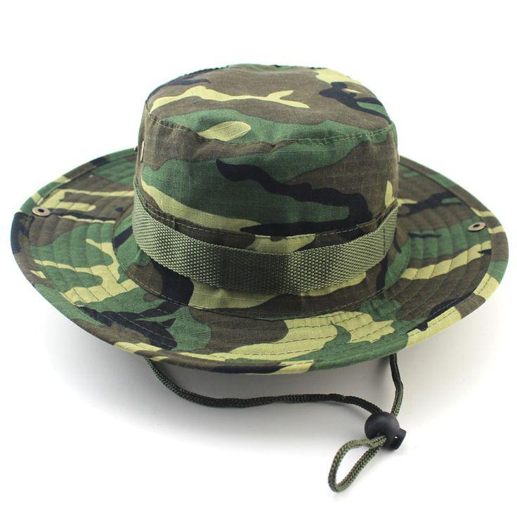 Wide Brim Camo Bucket Hat