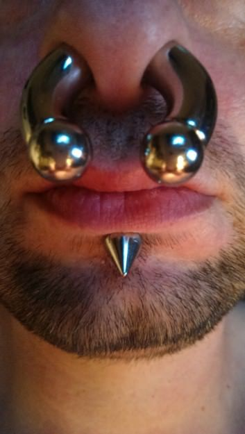 the male septum files | Septum Piercing | Piercings, Men's ...