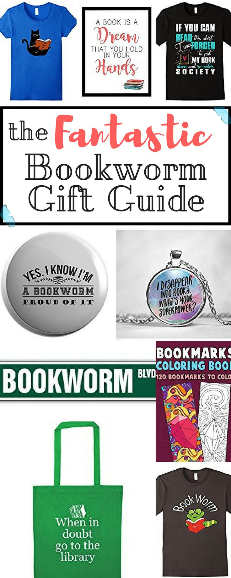 Do you know a bookworm that is in dire need of new stuff? Or are you a bookworm just like me in need of some cool presents that would go well with your reading mania? Here's the fantastic bookworm gift guide made especially for you!