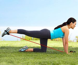 Butt Blaster, works your abs, glutes and hamstrings.  So easy to do at home!