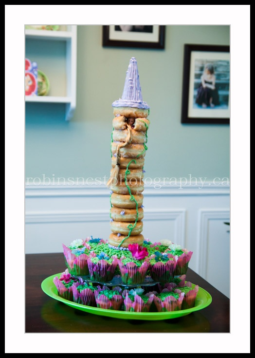 "Rapunzel Tower ""Cake"" - donuts & cupcakes"