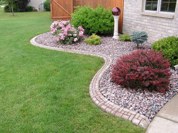 25 best ideas about rock flower beds on pinterest for Best apps for garden and landscaping designs