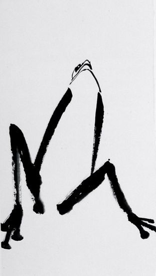 ZEN FROG BY KALPA MACLACHLAN. It is genius to say so much with so little!! #chinese #art SEE MORE ART NOW www.richard-neuman-artist.com