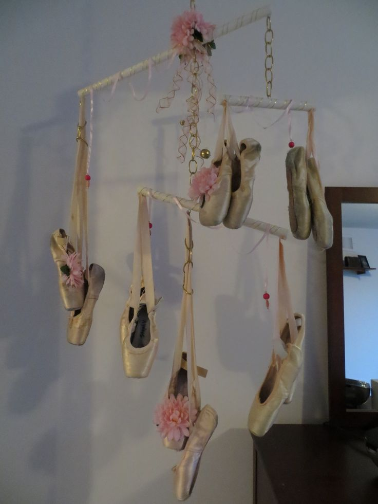 I 39 ve always kept my old point shoes i finally found a for Ballet shoes decoration