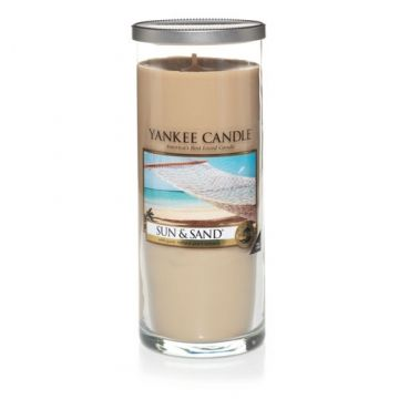 Yankee Candle Company Pillar Candles Summer: Sun & Sand Fall: Autumn Wreath Winter: Bayberry Spring: Garden Hideaway