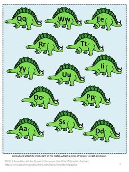 """FREE -Dinosaurs File Folders Games Sampler Sampler, Autism, Preschool, PK,K Dinosaurs have always been a fascination for children. The Dinosaur graphics used in this Sampler will satisfy that fascination and provide fun while learning. All I ask in return is to please click on the green ★ above to """"Follow Me."""