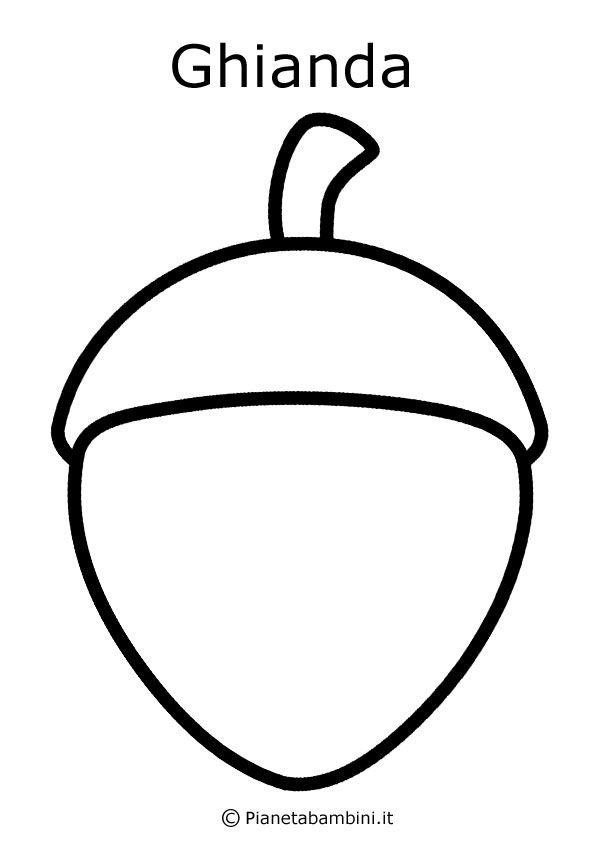 Disegni Di Frutta E Foglie Autunnali Da Colorare Autunno