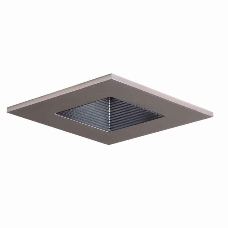 White Recessed Ceiling Light Square Shower Trim With Regressed Lens, Wet  Rated Shower Light