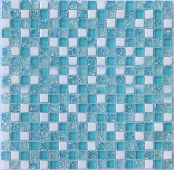 Blue Glass Backsplash Tiles Stbl001 12x12 Per Sheet Etsy Glass Tile Backsplash Glass Backsplash Mosaic Tile Sheets