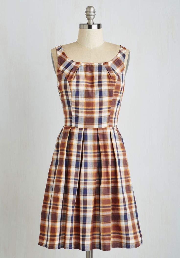 Book Club Beauty Dress. Set off for your best pal's pad toting your favorite read and adorned in this scholarly, pocketed frock. #multi #modcloth