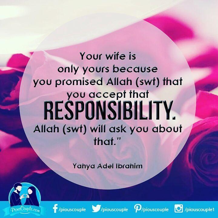#piouscouple #wife #husband #responsibility #Allah