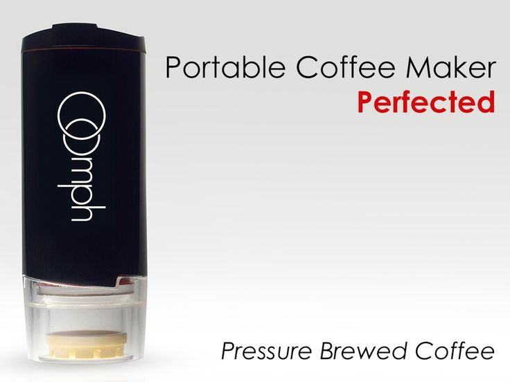 The worlds fastest hand powered portable coffee maker and travel cup, The Oomph.