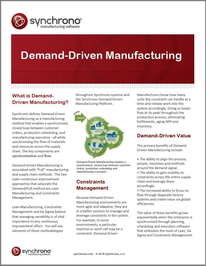 14 best Demand Driven Matters Blog images on Pinterest Supply - manufacturing project report