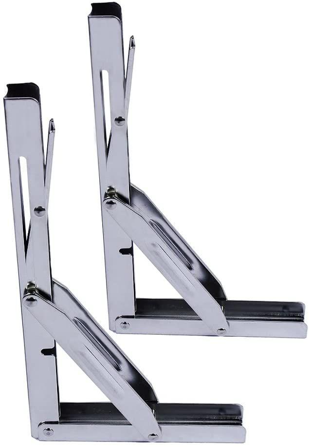 Best Folding Shelf Bracket Reviews A Comparison Of The Top Four Models In 2020 Folding Shelf Bracket Shelf Brackets Portable Shelves
