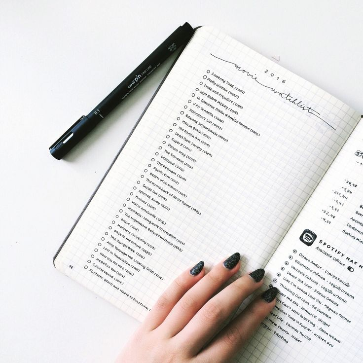 minimalist bullet journal - I like this layout - maybe for my gardening plans next year(?)