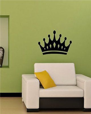 Crown King Queen Wall Art Sticker Decal T508