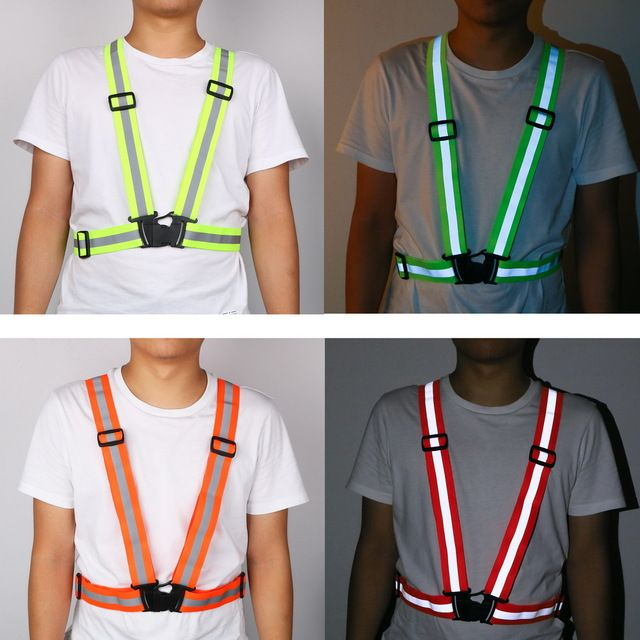360 Degrees Reflective Belt Safety Vest Fit For Running Cycling
