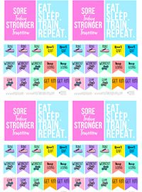 These printable planner stickers are part of the terrific Hello Spring bundle. 150 different products included for $23  Planner, planner lover, planner goodies, planner stickers, printable planner, printable stickers, planner addict, planning life, girly things, gift for myself, decor, decorating, printables, printable home decor, floral, wall art, colorful, spring printables, spring planner, hello spring, erin condren planner stickers, happyplanner, happy planner, filofax stickers