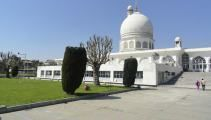 The Hazratbal Shrine, is a Muslim shrine in Hazratbal, Srinagar, Jammu & Kashmir, India. It contains a relic, the Moi-e-Muqqadas, believed by many Muslims of Kashmir to be a hair of Muhammad.