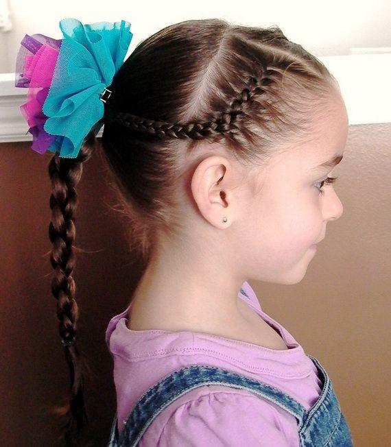 little girl hairdos for school | Sweet Chearleading Hairstyles for Little Girls
