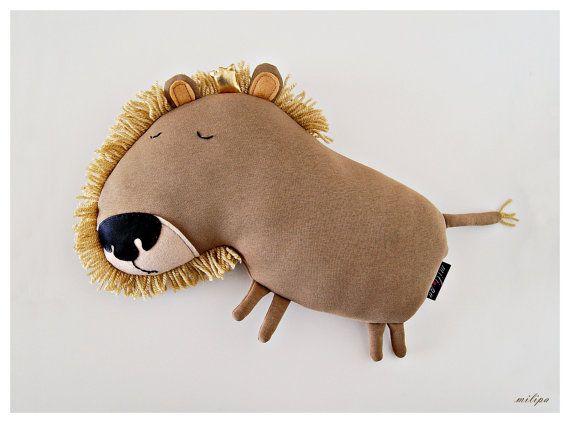 KING LEOPOLD stuffed animals plush lion stuffed lion by milipa