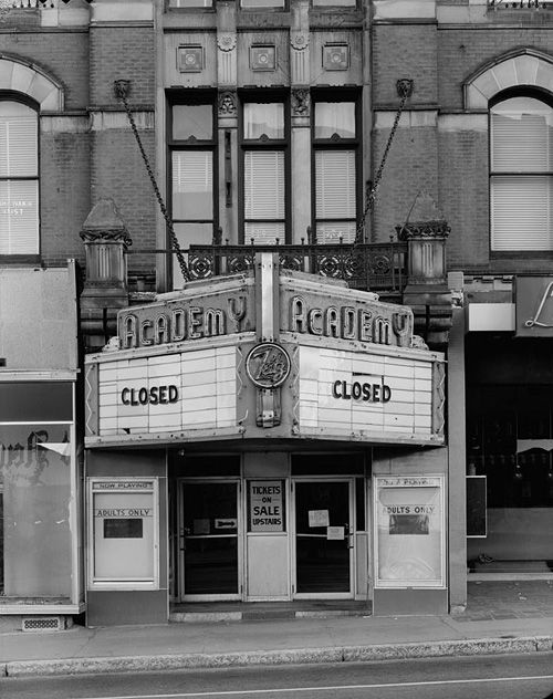 academy theatre. fall river, massachusetts, september 1979 • william owens