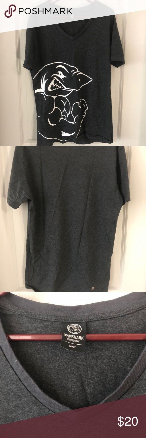 "Gymshark grey ""shark"" t-shirt Size L Gymshark grey ""shark"" t-shirt Size L Gymshark Shirts Tees - Short Sleeve"