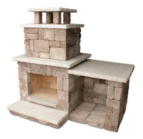 simple outdoor fireplace