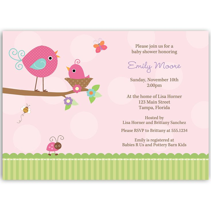 54 best Girl Baby Shower Invitations images on Pinterest | Baby ...