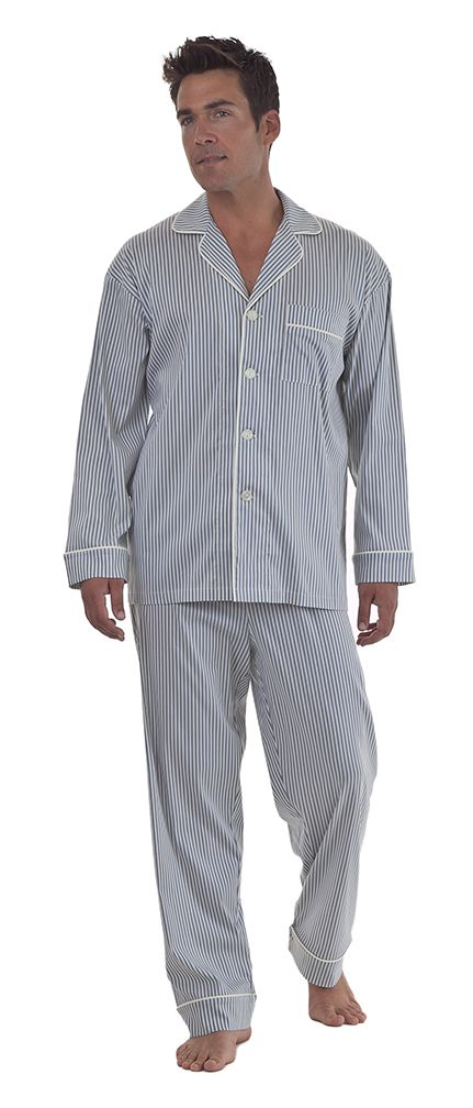 Bedhead Men's Pewter Stripe Fine Cotton Pajama Set $99.99 - SHOP http://www.thepajamacompany.com/store/18284.html?category_id=11371