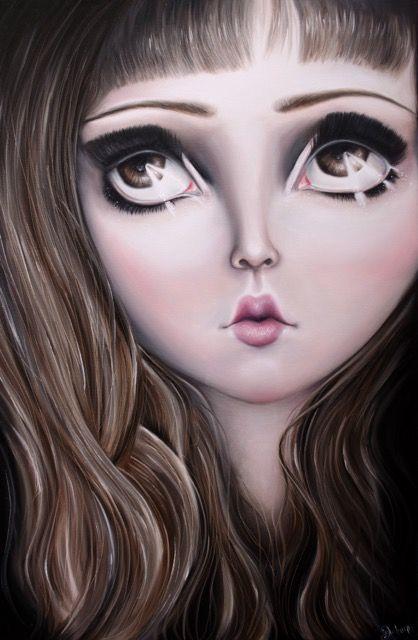 Doll Face, Vintage art, retro art, doll, vintage doll, Art, Magic, Artist Autumn