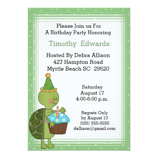 387 best turtle birthday party invitations images on pinterest turtle birthday party invitation stopboris Images