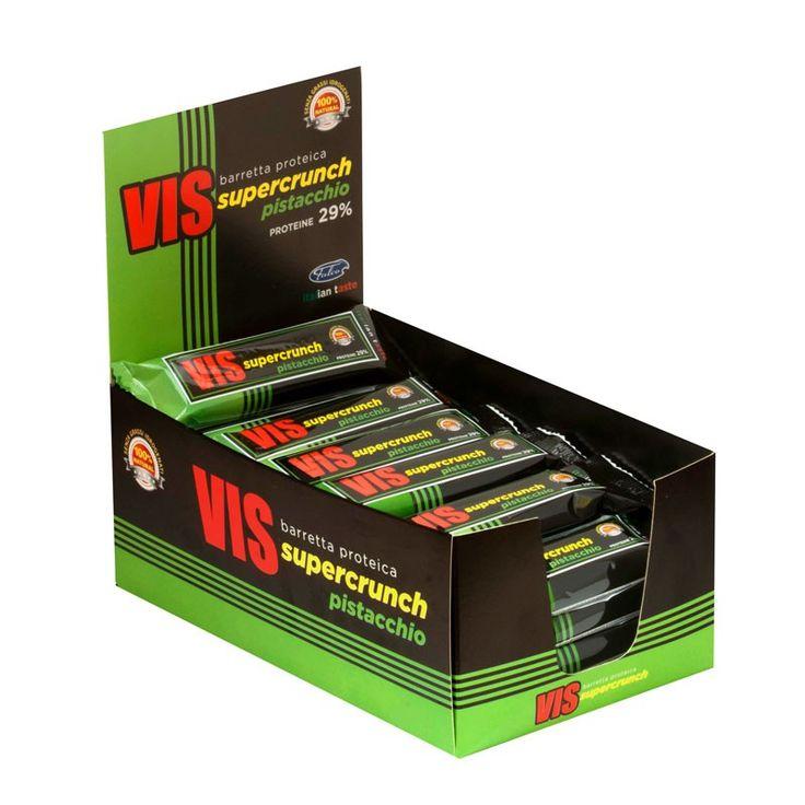 Nutrytional® - VIS SUPERCRUNCH box di barrette proteiche al cioccolato bianco e pistacchio