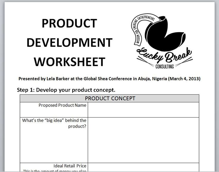 Product development process (and a worksheet, too!) | Lucky Break Blog - See more at: http://www.luckybreakconsulting.com/blog/planning-to-bring-a-product-to-market/#sthash.Bgvbycto.dpuf