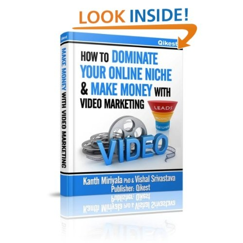 If you are new to video marketing or struggle to maintain your online video marketing campaign, you need this book. As you flip through the pages, you will learn how critical video marketing is for increasing sales for small business. You will learn how to make money with video marketing through our step-by-step guide to creating.. >> how to video marketing, how to make money with video, dominate online niche --> www.amazon.com/Dominate-Online-Niche-Marketing-ebook/dp/B00AN5BLGE