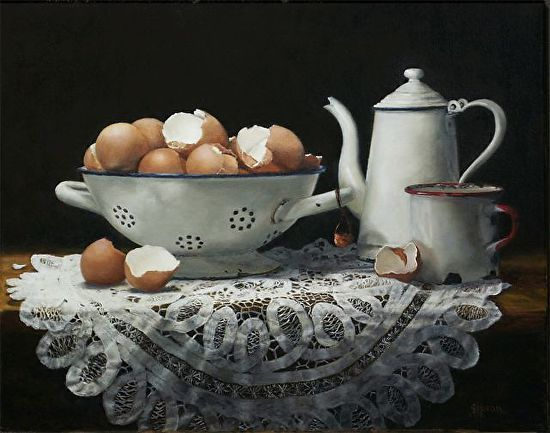 Eggs and Enamel - Oil