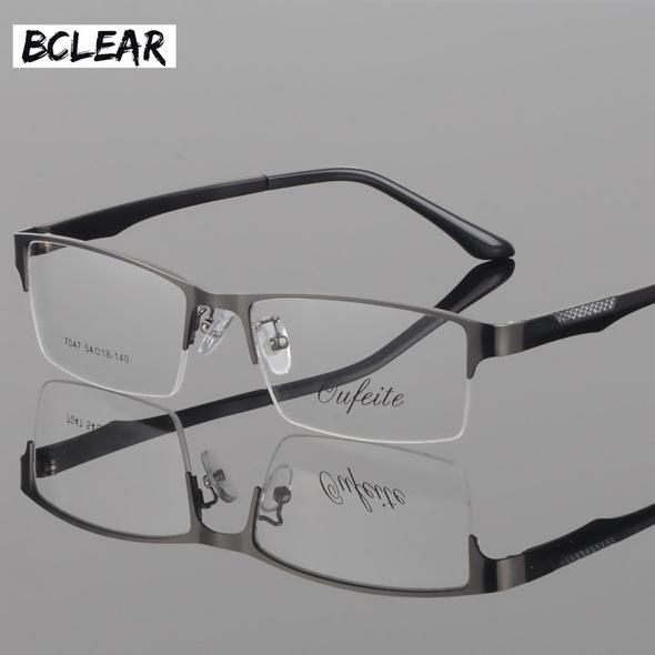 7cb88cf9fa BCLEAR Fashion ultra-light tr legs glasses frame men s metal half frame  myopia presbyopia prescription semi-rimless glasses