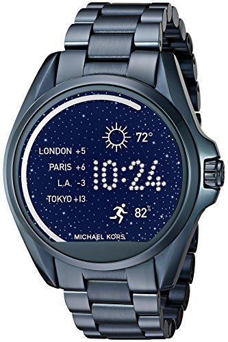Michael Kors Access Touch Screen Blue Bradshaw Smartwatch MKT5006 Check https://www.carrywatches.com