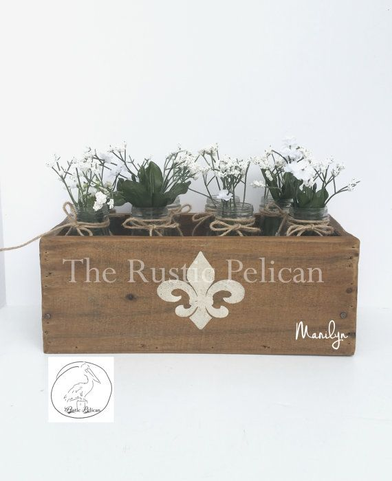 Rustic Planter Box - Cedar Wood -Reclaimed Wood -Barn Wood -Weddings -Rustic Weddings -Wedding Centerpiece -Home Decor -Country Decor -Home