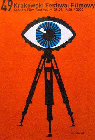 Krakow Film Festival Poster by Tomasz Walenta #eye #illustration - Carefully selected by GORGONIA www.gorgonia.it