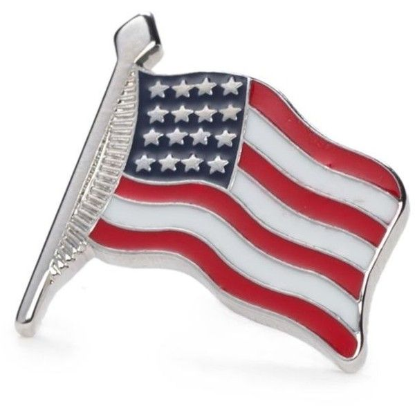 Saddlebred  Small Waving American Flag Lapel Pin (81 PLN) ❤ liked on Polyvore featuring jewelry, brooches, pink, pink jewelry, silver jewellery, silver jewelry, pink brooch and american flag jewelry