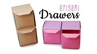 Origami Pull Out Drawers Instructions Tutorial Diy