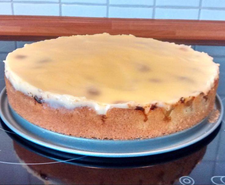 Rezept Schneller Rhabarberkuchen mit Vanillepudding von Fieldsofgold - Rezept der Kategorie Backen süß