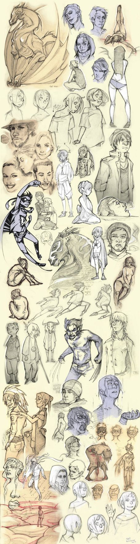 Here is a really awesome sketch dump by frizz-bee on deviantART