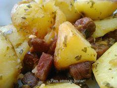 Revueltillo de patatas con jamón en Crock-Pot