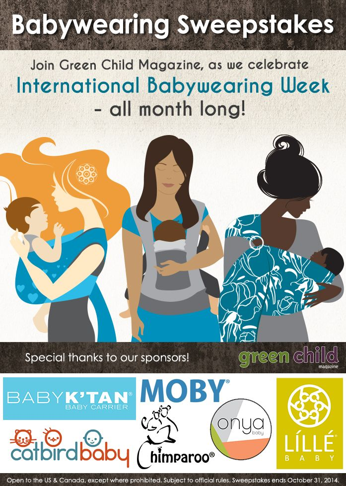 Celebrate International Babywearing Week with a chance to win one of these baby carriers!