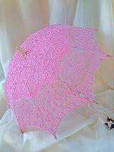 Зонтик от солнца х/б № 41, розовый /кружево, бамбук/