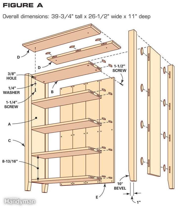 Simple Bookcase Plans | The Family Handyman - Best 20+ Bookcase Plans Ideas On Pinterest Build A Bookcase